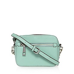 Star by Julien Macdonald - Designer light green double zip detail cross body bag