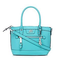 Star by Julien Macdonald - Designer light turquoise zip detail grab bag
