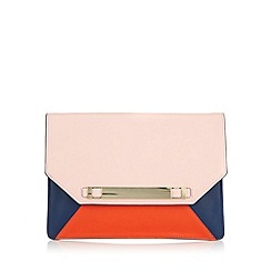 Star by Julien Macdonald - Designer pink colour block clutch bag