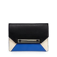 Star by Julien MacDonald - Designer bright blue colour block clutch
