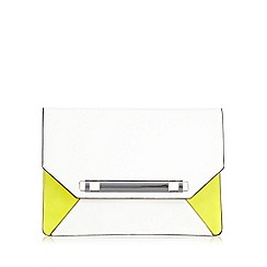 Star by Julien MacDonald - Designer white colour block clutch bag