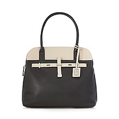 Principles by Ben de Lisi - Designer black colour block tote bag