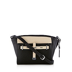 Principles by Ben de Lisi - Designer black colour block belted cross body bag