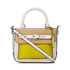 Principles by Ben de Lisi - Designer lime belted colour block grab bag