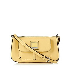 Principles by Ben de Lisi - Designer pale yellow logo cross body bag