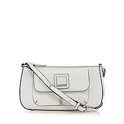Principles by Ben de Lisi - Designer white enamel plate cross body bag