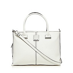 Principles by Ben de Lisi - White crosshatched tote bag