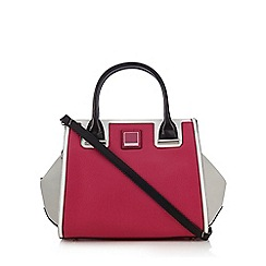 Principles by Ben de Lisi - Pink colour block winged tote bag