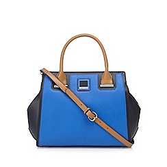 Principles by Ben de Lisi - Blue colour block winged tote bag
