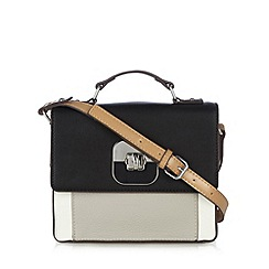 Principles by Ben de Lisi - Designer black colour block twist lock cross body bag