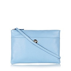 Principles by Ben de Lisi - Designer blue leather twist lock cross body bag