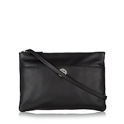 Principles by Ben de Lisi - Designer black leather twist lock cross body bag