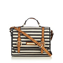 Principles by Ben de Lisi - Designer black striped mini satchel bag