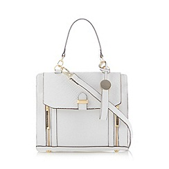 Butterfly by Matthew Williamson - Designer white faux snakeskin flap over small grab bag