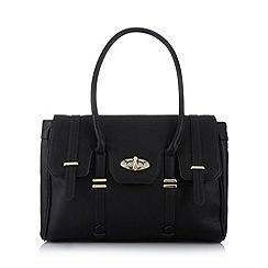 Butterfly by Matthew Williamson - Designer black twist lock large grab bag
