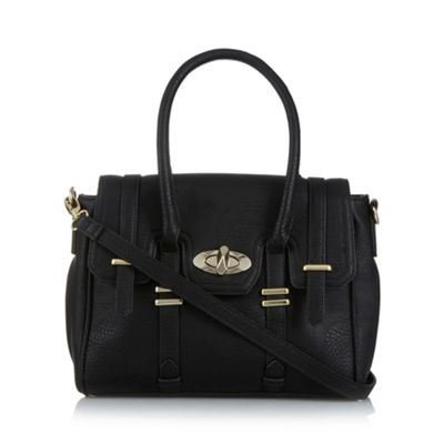 Butterfly by Matthew Williamson Designer black twist lock grab bag - . -