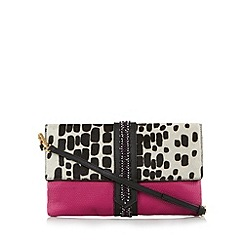 Butterfly by Matthew Williamson - Designer pink leather dalmatian clutch bag