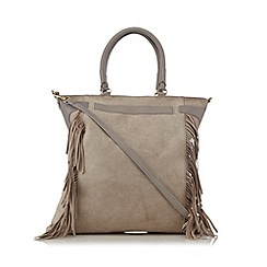 Butterfly by Matthew Williamson - Grey fringe tote bag