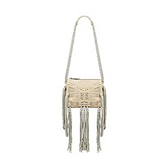 Butterfly by Matthew Williamson - Designer natural fringed cross body bag