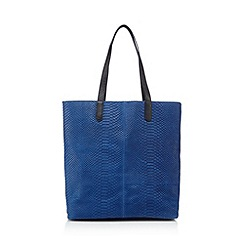 Butterfly by Matthew Williamson - Designer blue leather snakeskin shopper bag