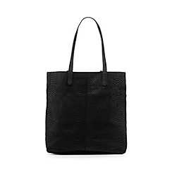 Butterfly by Matthew Williamson - Black leather snakeskin effect shopper bag