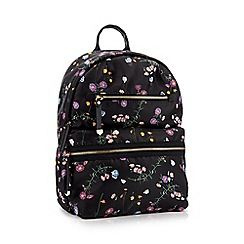 The Collection - Black floral spotted cross body bag