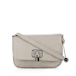 The Collection - Grey grained cross body bag