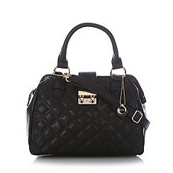 The Collection - Grey quilted grab bag