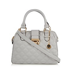 The Collection - Designer grey quilted grab bag