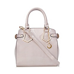 The Collection - Lilac patent three compartment mini grab bag
