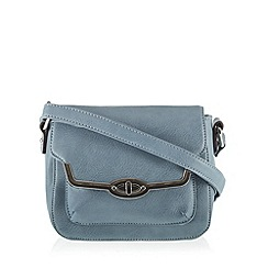 The Collection - Blue metal edge small cross body bag
