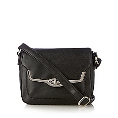 The Collection - Black metal edge small cross body bag