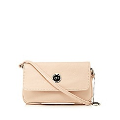 The Collection - Pink triple compartment small cross body bag