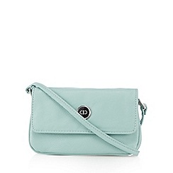 The Collection - Light green enamel plate cross body bag