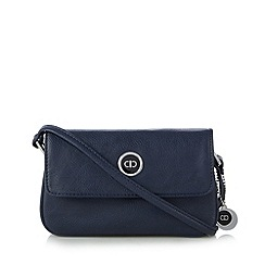The Collection - Navy enamel logo plate cross body bag