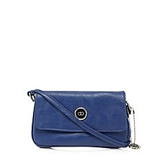 The Collection - Blue triple compartment small cross body bag