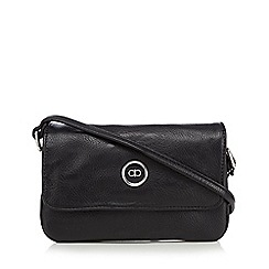The Collection - Black enamel logo small cross body bag