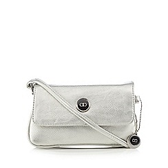 The Collection - Silver logo plate cross body bag