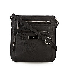 The Collection - Black logo enamel plate cross body bag