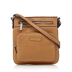 The Collection - Tan zipped pouch cross body bag