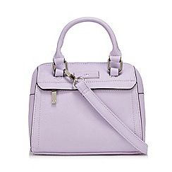 The Collection - Lilac enamel logo plate mini bowler bag