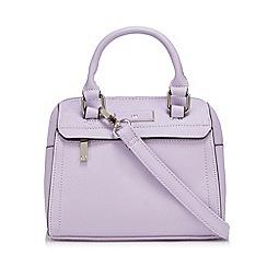The Collection - Lilac enamel logo plate mini bowler bag