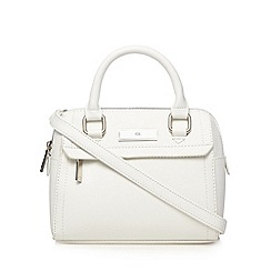 The Collection - White mini bowler bag