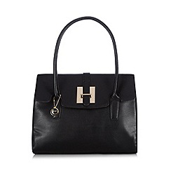 The Collection - Black tab front shoulder bag