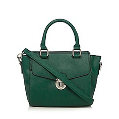 The Collection - Dark green push lock small grab bag