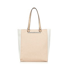 The Collection - Light pink colour block shopper bag