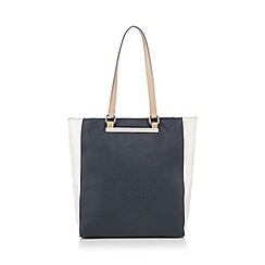 The Collection - Navy colour block shopper bag