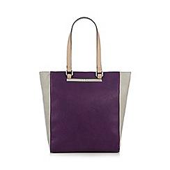 The Collection - Purple colour block large shopper bag
