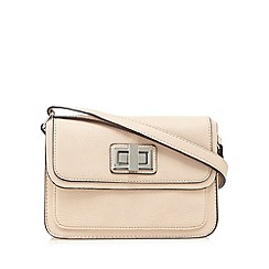 The Collection - Pale pink twist lock satchel