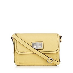 The Collection - Yellow twist lock cross body bag